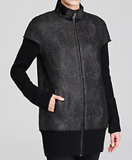Elie Tahari New Cynthia Coated Tweed Coat Size M MSRP $698 #J 197 (M)