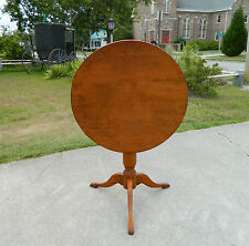19th Century Country Pine Tilt Top Table Candle Stand Lamp Table