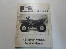 1986 1987 Kawasaki KLF300 All Terrain Vehicle Service Manual STAINED DAMAGED
