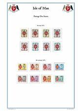 Isle of Man Full Colour Illustrated Stamp Album Pages 1958-2016 (325 Pgs) on CD