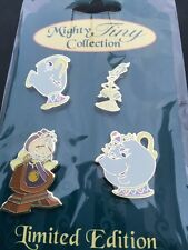 Disney Soda Fountain Beauty and Beast Mighty Tiny 4 Mini Pins Gsf DSF LE 200