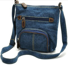 Fashion Da Donna Jeans Casual Borsa A Cartella Tracolla Messenger