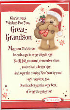 Great-Grandson Christmas Card. Christmas Wishes For You Great-Grandson Cute Card