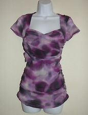 New Womens Sweet Pea Anthropologie Stacy Frati Top S Purple Small Stretch