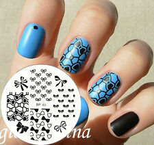Nagel Schablone Nail Art Stamp Stamping Template Plates BORN PRETTY 62