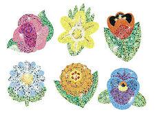 72 TREND Sparkling Flowers Sparkle reward praise craft stickers