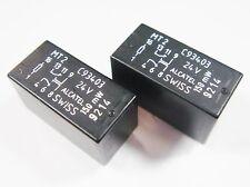 2 Stück Relais 24V 2xUM 220V 2A AXICOM ALCATEL SWISS MT2 C93403 #13R85