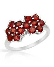 Light weight & Lovely Ring With Genuine Garnet in 925 Sterling silver