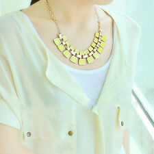 Charm Statement Bib Pendant Chain Chunky Choker Necklace Jewelry Fashion Crystal