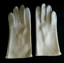 Vintage White Vinyl Gloves Made in Japan - One Size