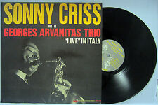 "JAZZ LP SONNY CRISS WITH GEORGES ARVANITAS TRIO ""LIVE"" IN ITALY FRESH SOUNDS401"