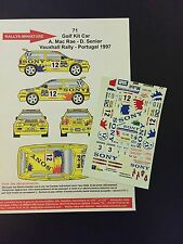 DECALS 1/43 VW VOLKSWAGEN GOLF KIT CAR MC RAE RALLYE VAUXHALL 1997 RALLY BRITISH