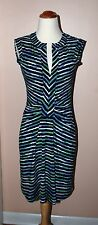 BCBG MAX AZRIA SZ S COCKTAIL SHIFT FIT & FLARE WRAP DRESS BLUE GREEN