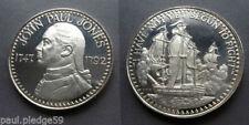 John Paul Jones Americana Revolution Datato 1747 - 1792 Argento Sterling Moneta
