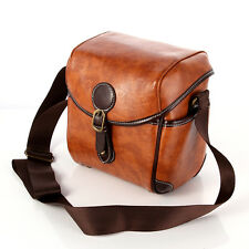 Waterproof Vintage PU Leather DSLR Camera Shoulder Bag For Canon Nikon Universal