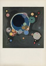 "1958 Vintage KANDINSKY ""SEVERAL CIRCLES"" WOW ABSTRACT COLOR Art Print Lithograph"