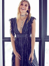 FREE PEOPLE NWT$350 My Antonia Dress* Black Combo Sz 6 SOLD OUT!!