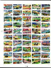 2002 - GREETINGS FROM AMERICA - #3561-3610 Mint Sheet of 50 Postage Stamps