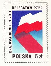 POLAND 1984 MINT Postcard Cp#863  National Conference of Delegates of the PZPR
