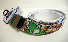 NINTENDO Super Mario Brothers MARIO LUIGI BOWSER metal buckle canvas BELT sz-40
