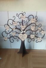 Personalised freestanding wooden family tree keepsake shabby chic gift 15 Names
