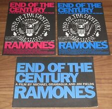 RAMONES Japan PROMO ONLY MOVIE BOOKLET not TOUR BOOK + 2 x PROMO flyer PUNK!