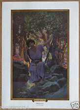 Maxfield Parrish Dream Light Vintage Original Portal Publications LithoArt Print