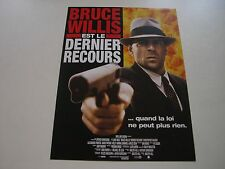 AFFICHE PROMO VIDEO CLUB--LE DERNIER RECOURS--WILLIS/HILL/WOLF/WALKEN