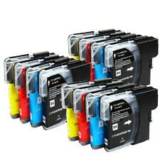 12 NON-OEM INK BROTHER LC-61 MFC-J265w MFC-J270W MFC-J410W MFC-J415W MFC-J615W