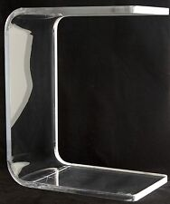 """HAZIZA Clear Acrylic PIT TABLE 10""""x16""""x20"""" Contemporary Art Furniture"""