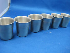 Lot of 6 Antique Made in Germany Heavy Pewter Shooters/Cups Engraved