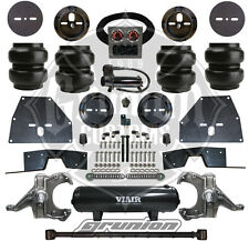 Chevy C10 65-70 Front Rear Air Bag Suspension Kit w/ Spindles Viair 444C C Notch