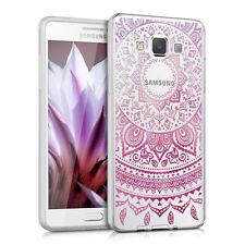 kwmobile Crystal Case für Samsung Galaxy A5 (2015) Indische Sonne Pink Tpu Klar