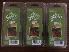 18 GLADE Wax Melts (Tarts) SUNSET WALK (3 packages=18) A DEAL AT A STEAL!