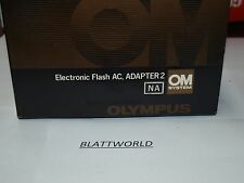 NEW OLD STOCK OLYMPUS OM BRAND ELECTRONIC FLASH AC ADAPTER 2 in BOX