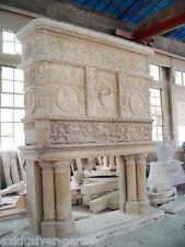 Kaminumrandung, Kaminverkleidung aus Marmor, Kamin, fireplacemantle, fireplace