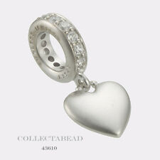 Authentic Endless Sterling Silver Sparkling Love Drop Silver Bead 43610