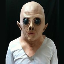Hot Silicone Face Mask Alien Ufo Party Horror Rubber Latex Full Masks For Party