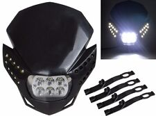 LED HeadLight Street Fighter Dirt Bike For XR CRF CBR KTM Ninja KLX ZX6R EX250