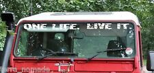 DEFENDER PARABREZZA One Life. LIVE IT. Adesivo Decalcomania LAND ROVER CAMEL TROPHY V3