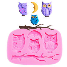 Square Owls Moon Chocolate Mould Cake Fondant Craft Jelly Candy Mold Decor