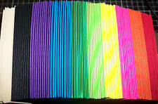 100 Blank Cards 10 colors top quality cardstock