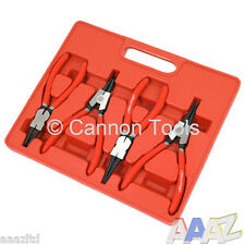 "Snap Ring Plier Set Cir Clip Internal & External 7"" Long Comfort Grip"