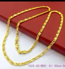 NEW 18ct GOLD Filled Purity 50cm 3mm Chain Necklace 2 Years Colour Guarantee