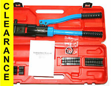 FREE SHIPPING 16 TONS HYDRAULIC CRIMPER 7 AWG - 600 kcmil, 10 - 300 mm