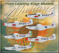 1/48 RCAF P-51 Mustangs Part 2 Eastern Squadrons decal set Leading Edge Models