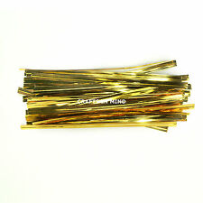 Coloured Metallic Twist Ties 10cm for Cone Cellophane Bags Party/Cake 4 inch UK