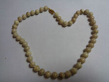 HAND KNOTTED SAND STONE NECKLACE WITH GOLD TONE CLASP