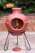 Gardeco Hand Made Cozumel Red Clay BBQ Grill Chimenea Chiminea BRAND NEW BOXED