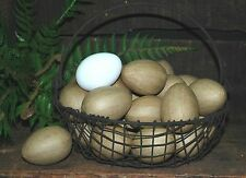 12 Unfinished Paper Mache EGGS - Easter